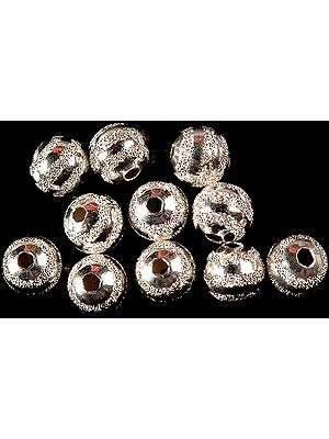 Sterling Frosted Balls (Price Per Six Pieces)