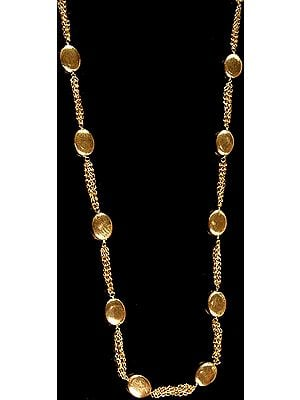 Sterling Gold Plated Beaded Necklace