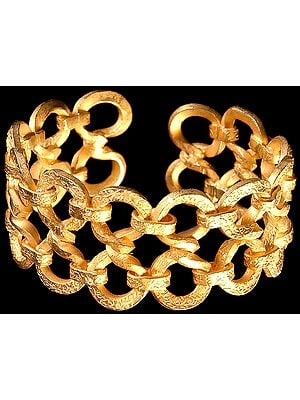 Gold-plated Bracelet Penannular
