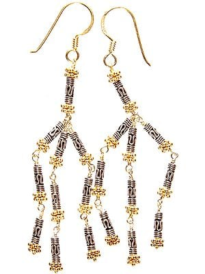 Sterling Gold Plated Filigree Earrings