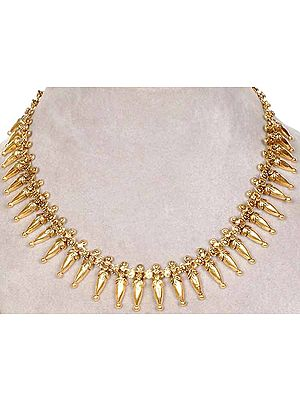 Sterling Gold Plated Necklace with Vegetative Motifs
