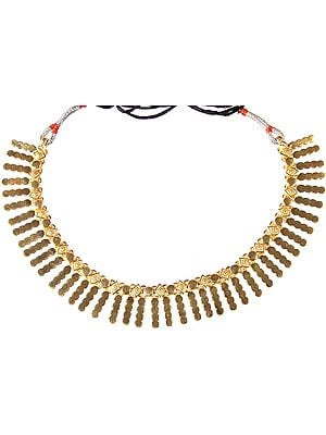 Sterling Gold Plated Spikes Necklace