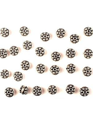 Sterling Grain Beads with Plain Rope (Price Per Four Pieces)