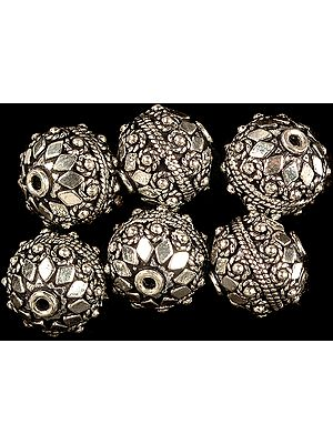 Sterling Granulated Bead with Knotted Rope (Price Per Piece)