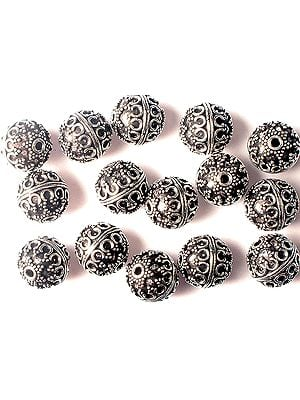 Sterling Granulated Beads<br>(Price Per Four Pieces)
