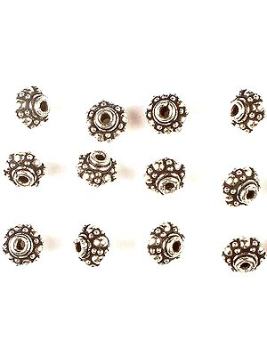 Sterling Granulated Superfine Beads (Price Per Four Pieces)