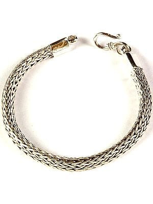 Sterling Knotted Rope Bracelet