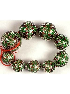 Sterling Meenakari Beads
