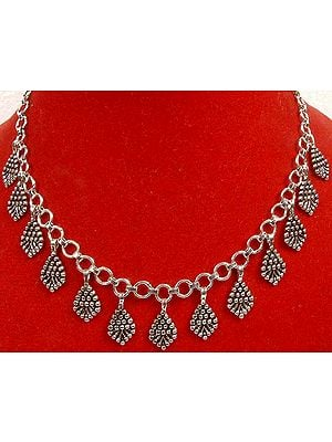 Sterling Necklace with Dangles