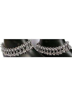 Sterling Ratangarhi Anklets (Price Per Pair)