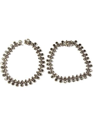 Sterling Silver Ethnic Anklets (Price Per Pair)