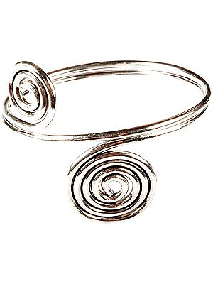 Sterling Spiral Armlet