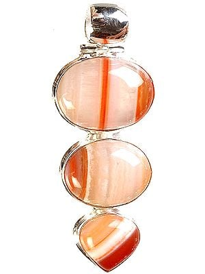 Striped Carnelian Pendant