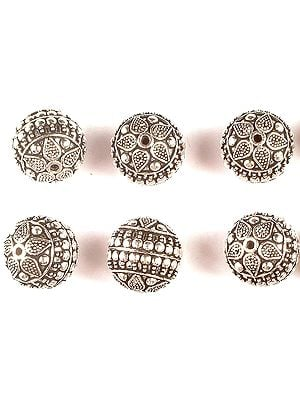 Superfine Floral Round Beads (Price Per Piece)
