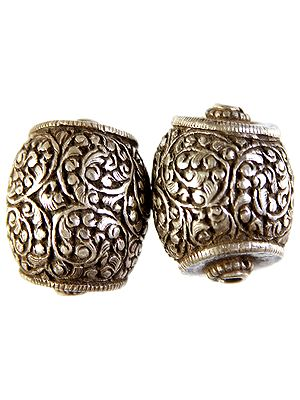Superfine Handcarved Nepalese Buddhist Drum Beads (Price Per Piece)