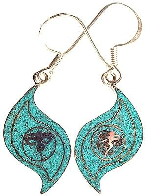 Swayambhunath Eyes Inlay Earrings
