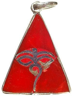 Swayambhunath Eyes Triangular Inlay Pendant
