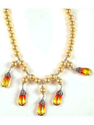 Swarovski Necklace With Dangles