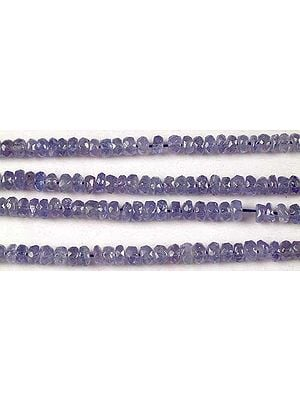 Tanzanite Faceted Rondells