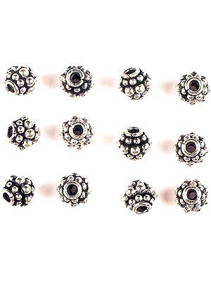 Three Layer Granulated Beads (Price Per Pair)