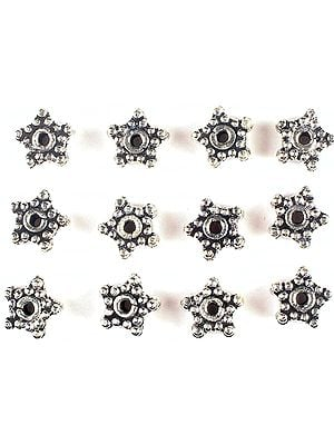 Three Layers Star Beads Made of Grains (Price Per Pair)
