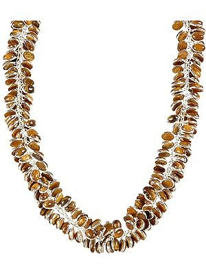 Tiger Eye Bunch Necklace