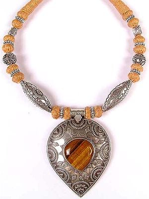 Tiger Eye Necklace with Matching Cord