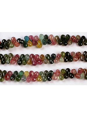 Tourmaline Faceted Drops