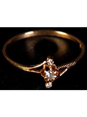 Triple Diamond Gold Ring