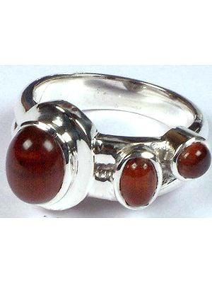 Triple Iron Tiger Eye Ring