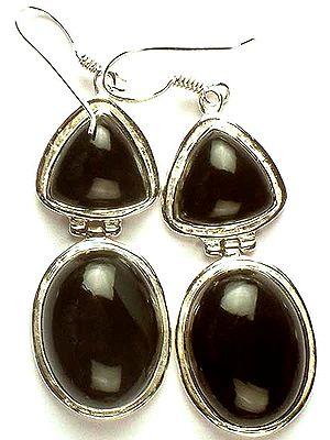 Twin Black Onyx Hinged Earrings