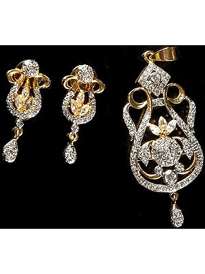 Victorian Pendant with Earrings
