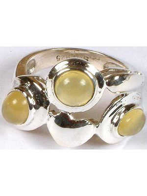 Yellow Chalcedony Ring with Valentine