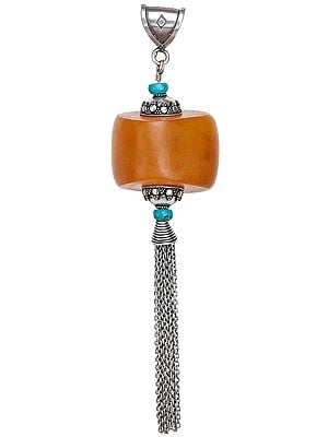 Amber Dust Pendant with Shower and Turquoise