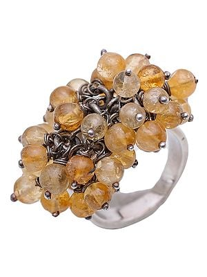 Citrine Gypsy Ring