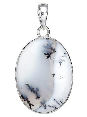 Oval Dendrite Opal Pendant