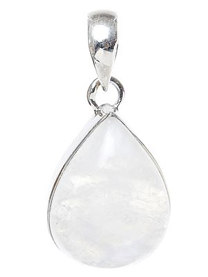 Tear-Drop Rainbow Moonstone Pendant