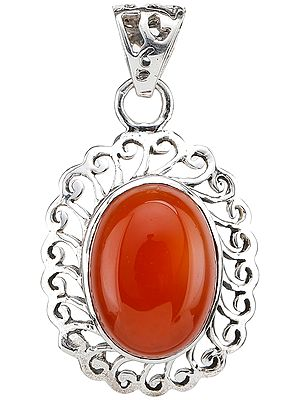 Carnelian Lattice Pendant