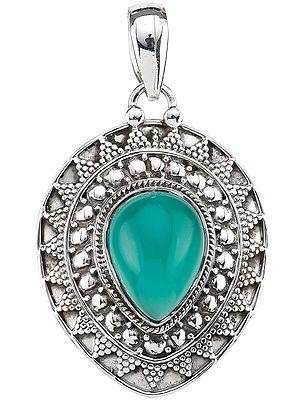 Embellished Malachite Pendant