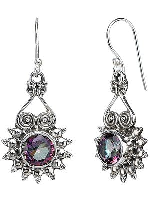 Faceted Mystic Topaz Earrings