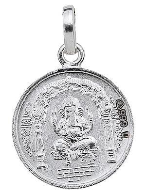 Lord Ganesha Pendant with Karya Siddhi Yantra on Reverse