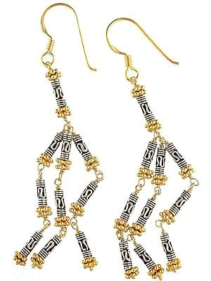 Sterling Gold Plated Earrings - Sterling Silver
