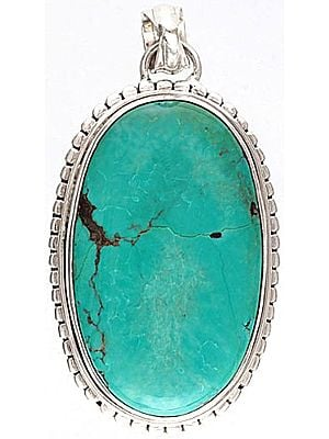 Turquoise Pendant - Sterling Silver