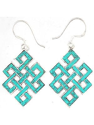 Endless Knot Earrings - Sterling Silver