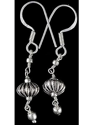 Sterling Beaded Earrings - Sterling Silver