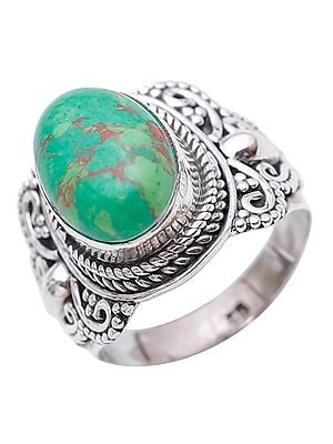 Green Mohave Turquoise Ring