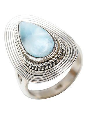 Larimar Marquis Ring