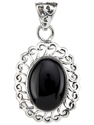 Black Onyx Lattice Pendant