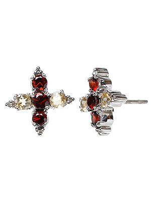 Garnet Tops with  Citrine