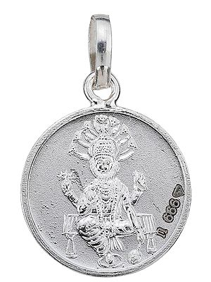 Narasimha Pendant with Yantra on Reverse